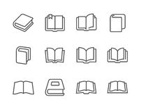 Books icons Royalty Free Stock Photography