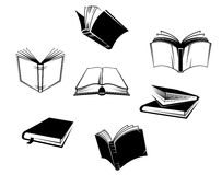 Books icons and symbols Royalty Free Stock Image