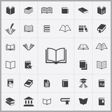 Books icons universal set. For web and mobile Royalty Free Stock Images