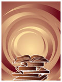 Books. Illustrated gradient color isolated books background Royalty Free Stock Image