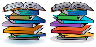 Books. Illustrated  isolated colorful books image Royalty Free Stock Photo