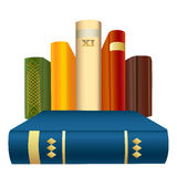 Books. A  illustration of hardcover books Stock Photography