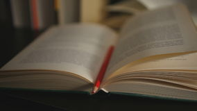 Books and important message stock footage