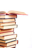 Books In A Row. Isolated Royalty Free Stock Images