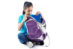 Books In My Backpack Royalty Free Stock Images