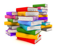 Books isolated on white Stock Images