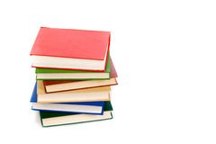 Books isolated on white. Color books isolated on white Royalty Free Stock Photos