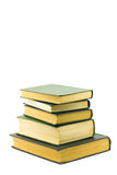 Books isolated on a white background. Books combined by a pile on a white background Royalty Free Stock Photo