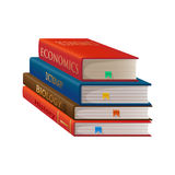 Books isolated of a white background Royalty Free Stock Photography