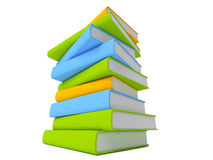 Books isolated on white. Colorful books isolated on white Stock Image