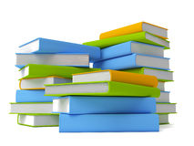 Books isolated on white. Colorful books isolated on white stock illustration