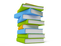 Books isolated on white. Row of colorful books isolated on white Stock Photography