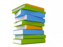 Books isolated on white. Row of colorful books isolated on white stock illustration