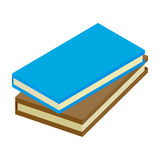 2 books isometric 3d icon. Single illustration isolated on a white Royalty Free Stock Photo