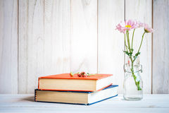 Books or journal with flowers Stock Photos