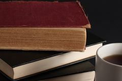 books kaffe Royaltyfri Fotografi
