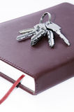 Books and keys. Keys that are on the books Royalty Free Stock Image