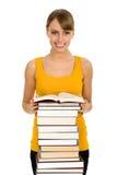 books kvinnan Royaltyfri Fotografi