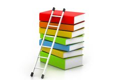 Books and ladder Stock Image