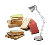 Books with a lamp Stock Image