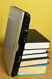 Books and laptop Royalty Free Stock Photography