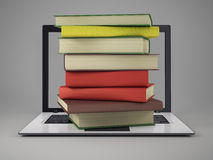 Books and laptop Stock Images
