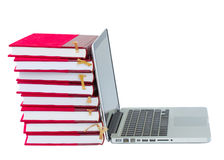 Books and laptop Stock Photo