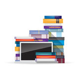 Books and Laptop Royalty Free Stock Image