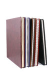 Books in leather covers royalty free stock photo