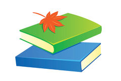 Books with leave. New books with leave illustration Royalty Free Stock Images