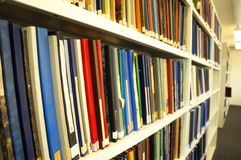 Books in a library Stock Photos