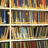 Books in a library Royalty Free Stock Photo