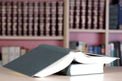 Books in the library Stock Images