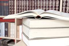 Books in the library Royalty Free Stock Image