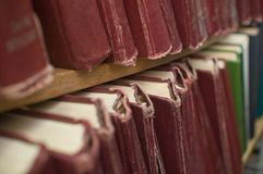 Books in library. Royalty Free Stock Photo