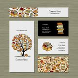 Books Library, Business Cards Design Stock Photography