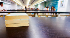 Books in library. Close up of books in library Stock Photography