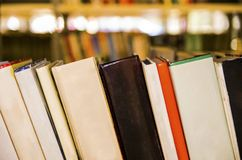 Books in the library Stock Image