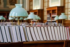 Books in the library Royalty Free Stock Images
