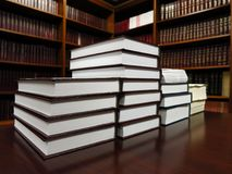Books in Library for Studying and Education for Learning royalty free stock image