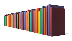 Books in line  on a white background Royalty Free Stock Photo