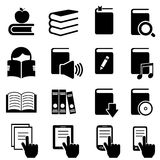 Books, literature and reading icons Royalty Free Stock Image
