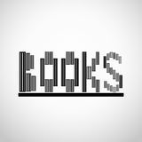 Books logo concept Stock Images