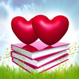Books about love vector illustration