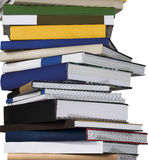 Books macro. Stack of books isolated white backgorund Royalty Free Stock Photography