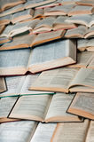Books making pattern with shadows Royalty Free Stock Photos