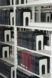 Books management bookshelf. University library, the books on the shelf Stock Images