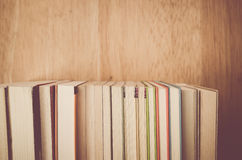 books and manuals side view close up Stock Photography