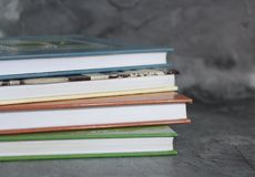 Books with marble background Stock Image