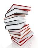 Books massive on glossy. Books massive on white background Royalty Free Stock Photo